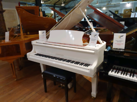 Steinhoven GP148 baby grand piano white polyester for sale