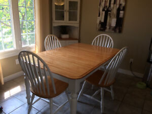 Canadian Made Solid Birch Dining Room Set with Extras