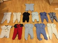 Set of 12 baby grows in great condition.