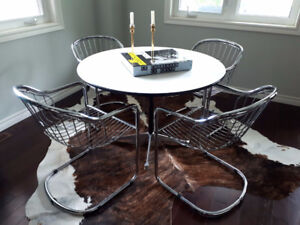 Mid Century Modern Chrome Dining Chairs