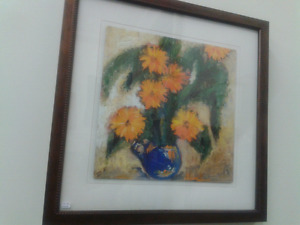 framed paintings at Second Stage