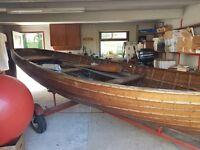 Beautiful Clinker Fishing Boat for sale.