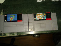 Jeux de super nintendo/ snes a vendre- mario world, allstars !!