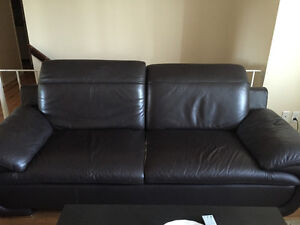 Leather couches in good condition!