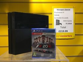 PlayStation 4 500Gb, Fully Boxed with F1 2016