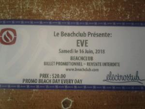 2 Billets Beach Club