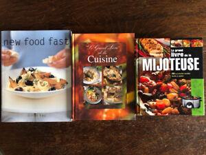 livres de cuisine à vendre