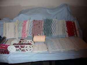 For Sale:  Assorted laces, trims, drapery tape, etc.