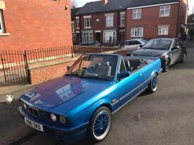 1993 BMW E30 318I CONVERTIBLE NEON BLUE NOT M SPORT M TEC 1 2 RARE CLASSIC CAR