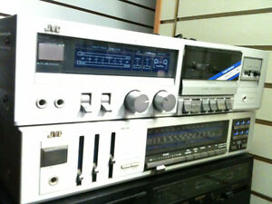 JVC receiver&Tape deck an ION turntable Speakers 5 FREE ALBUMS