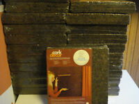 100 sq' ft of decorative cork ( used for sound proofing) $50