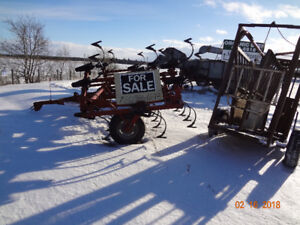 IH cultivator and cattle squeeze