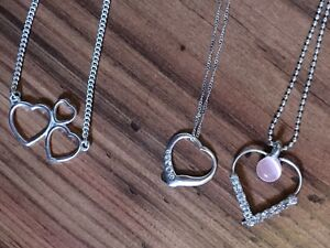 Heart necklaces great for Valentine's Day