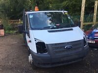 2013 FORD TRANSIT T350 EF 125ps 6 SPEED SPARES OR REPAIR NO VAT DROPSIDE LWB