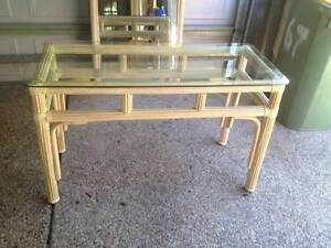 Cane hallway table and large mirror set-VINTAGE Pimpama Gold Coast North Preview