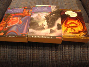 3 Books:by Tolkien and White (Adventure/Fantasy)