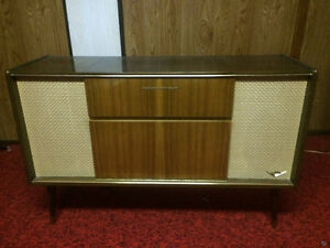 Antique 1954  Stereo with Record Player For Sale