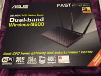 Asus DSL-N55U Wireless N600 Dual Band ADSL Modem Router 600Mbps 2.4GHz-5GHz