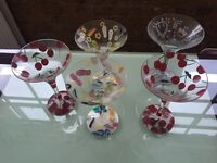 Set of 5 coctail / martini glasses