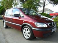 VAUXHALL ZAFIRA 1.6i 16v 2003 CLUB COMPLETE WITH M.O.T HPI CLEAR INC WARRANTY