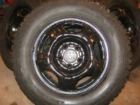 4 Winterforce studded tires 205-70-15