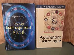 Livres Astrologie, Alimentation, Connaissance de soi