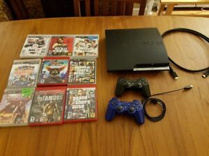 PS3 - 250GB Playstation 3 with 9 games