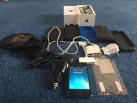 Iphone 4s 8GB with box and HUGE accessories bundle inc speakers