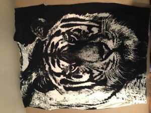 Tiger print cap sleeve tops, $5 each, Medium, 5 Pieces