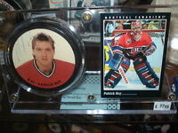 Autographed Patrick Roy Puck With COA And Display Stand