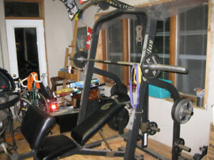 Nautilus Power System Rack with Bench and Weights
