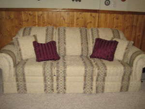 QUEEN SIZE SOFA BED AND LOVE SEAT COUCH