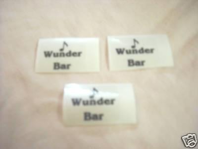 Wunder Bar Gun Stickers Set Of 3 Clear Black 1 X 34