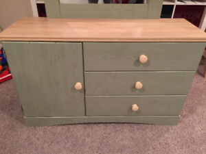 Dresser and attached mirror