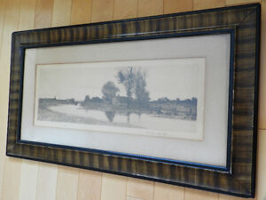 Antique 1890 Lithograph in Grain Painted Frame Kitchener / Waterloo Kitchener Area image 3