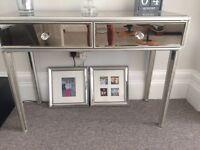 Mirrored Antique Finish Furniture