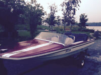 REDUCED PRICE BOAT + 9.9 OUTBOARD ELECTRIC START MOTOR + TRAILER