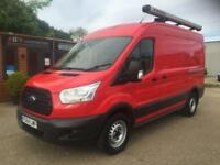 2015 (64) FORD TRANSIT T350 2.2 125 MWB MEDIUM ROOF RED DIESEL VAN NEW SHAPE