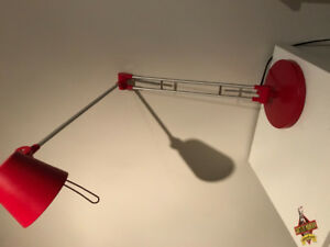 Lampe de table-chevet rouge