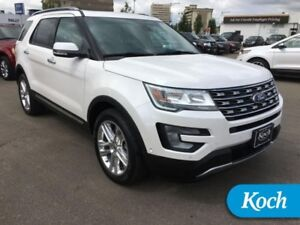 2017 Ford Explorer Limited  Low kms, Twin Roof, Two Pkg, BLIS, 2