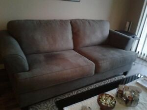 COUCH - COFFEE TABLE - 2 END TABLES  need gone asap