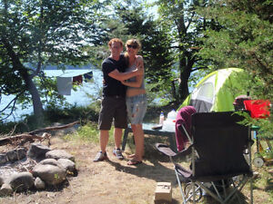 Camping on Private Rice Lake Island! It's Simply Unbelievable!
