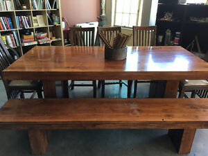 Beautiful wood dining table