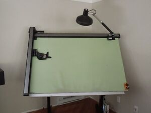 Drafting table and K & E drafting machine