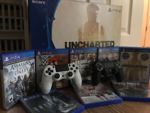 PS4+ 8 games+ 2 remotes + headset