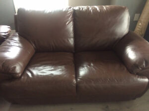 3-piece leather couch