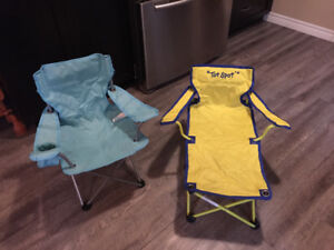 Two kids camp chairs