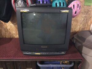 "20"" Panasonic television with vcr"