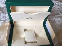 Rolex and omega watch boxes