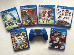 Jeux PS4: GTA V, Rory McIlroy, FIFA, NHL 18, FIFA, NBA